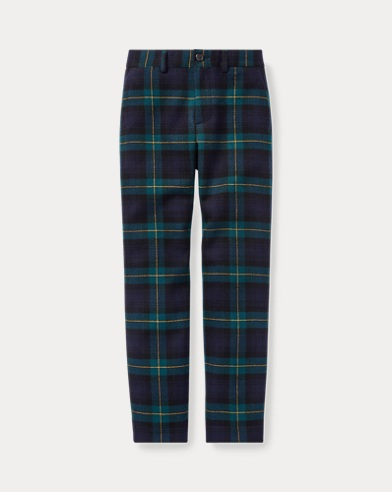 Slim Tartan Wool Twill Trouser