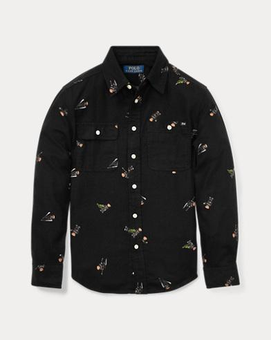 Camicia in flanella con Polo Bear