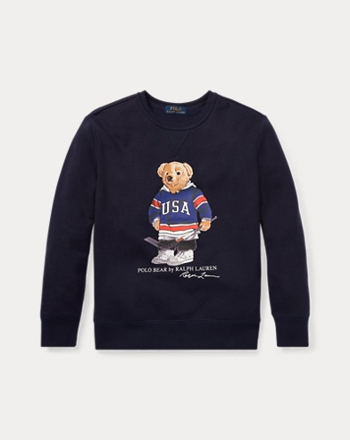 Hockey Bear Fleece Sweatshirt