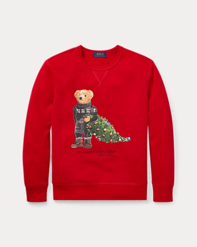 Fleece-Sweatshirt mit Holiday Bear