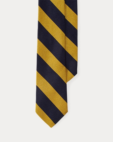 Striped Silk Twill Club Tie