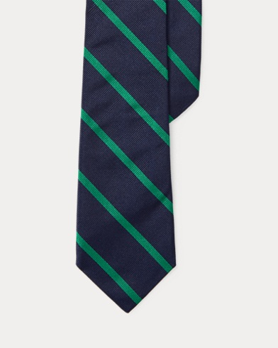 Striped Silk Twill Tie