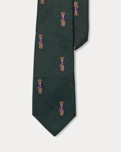 Cravatta in twill con Polo Bear