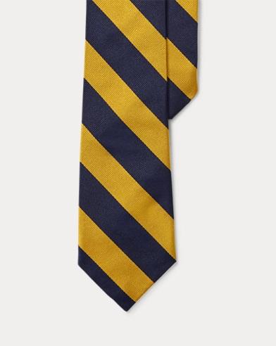 Striped Silk Twill Club Tie