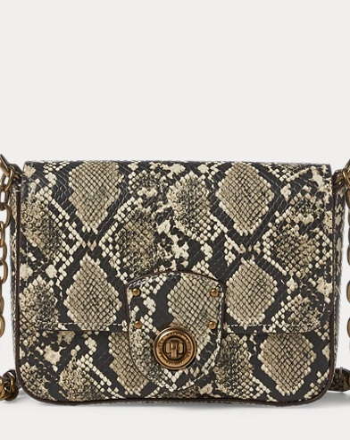 Faux Snakeskin Crossbody Lauren