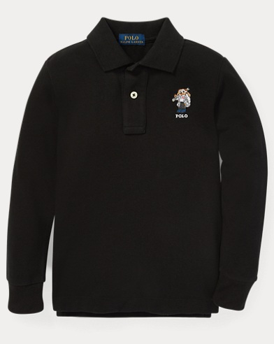 Ski Bear Cotton Mesh Polo