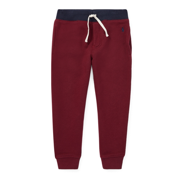 Ralph Lauren Cotton-Blend-Fleece Jogger Classic Wine 2T