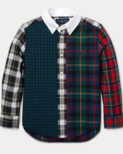 Plaid Cotton Poplin Fun Shirt