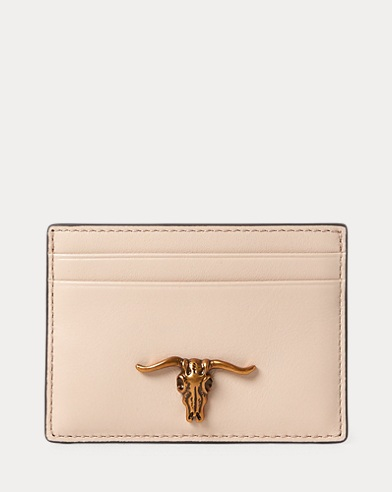 Steer-Head Leather Card Case