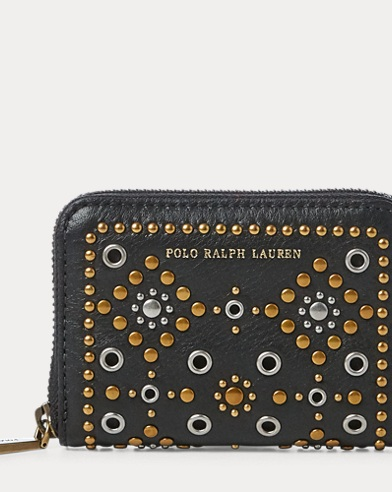 Studded Small Zip Wallet