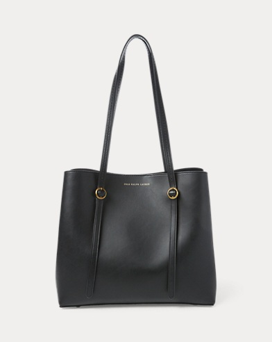 Leather Mini Lennox Tote. color (2)  Black · Saddle. Polo Ralph Lauren 66a93a892a