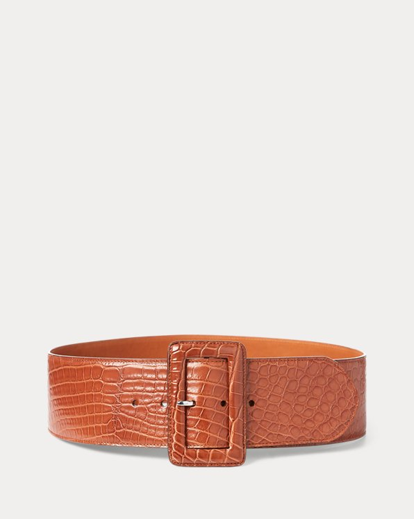 Trench-Buckle Alligator Belt
