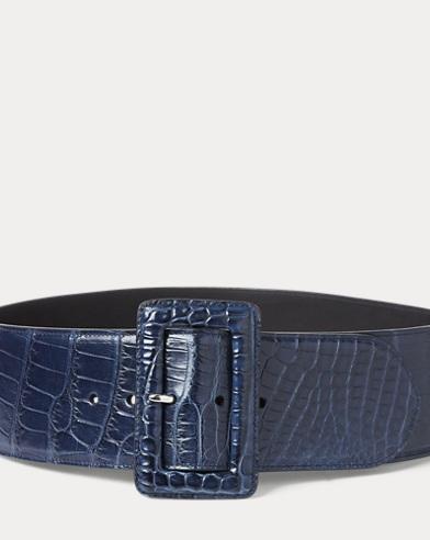 Alligator Trench-Buckle Belt