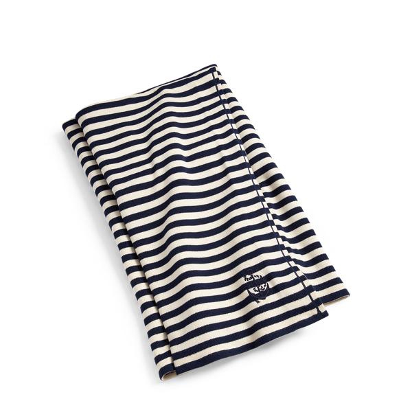 Ralph Lauren Colleen Throw Blanket Navy And Cream 54