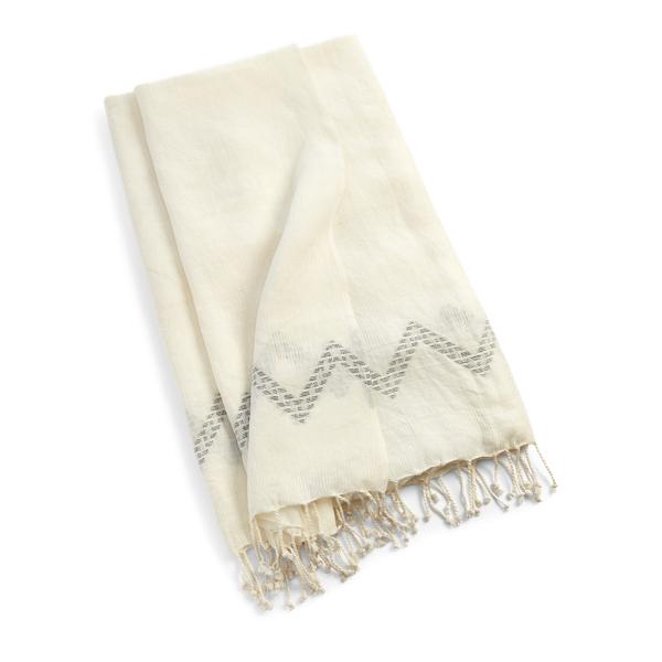 Ralph Lauren Sandia Throw Blanket Classic Cream 54
