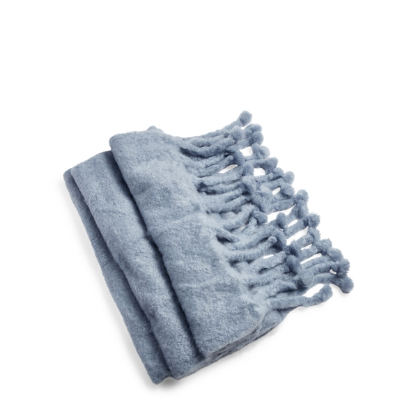 Ralph Lauren Ridge Throw Blanket Light Blue 54