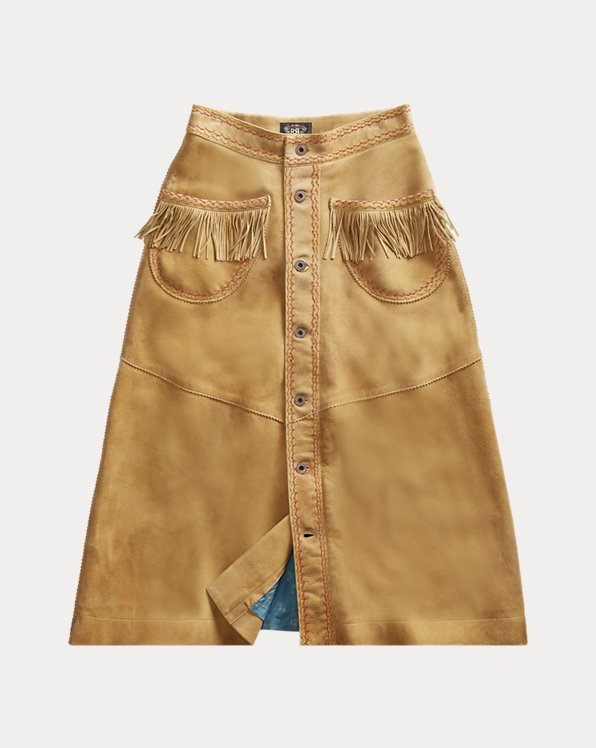 Fringe Suede Skirt
