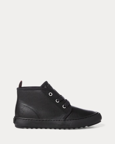 Chett Leather Mid-Top Trainer