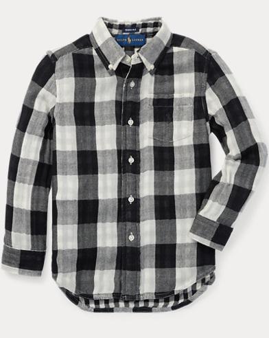 Reversible Plaid Cotton Shirt