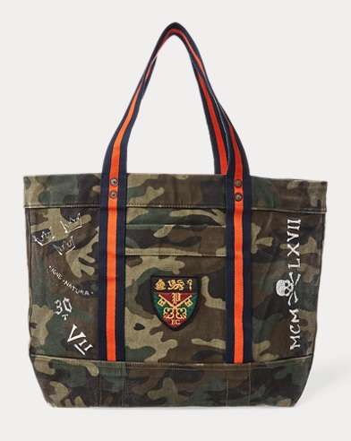Crested Canvas Tote