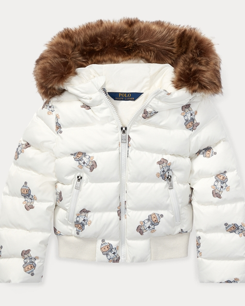 b3439305b Girls 2-6x Polo Bear Down Jacket 1