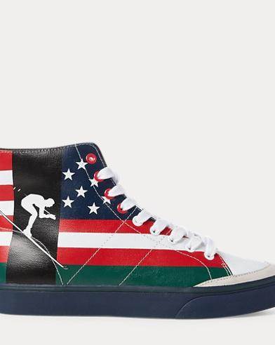 Solomon Flag-Print Sneaker