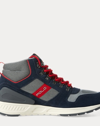 Train 100 Suede-Mesh Sneaker. Polo Ralph Lauren