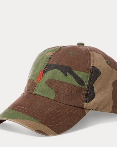Camo Cotton Chino Cap