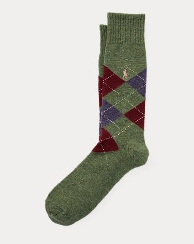Wool-Blend Argyle Socks