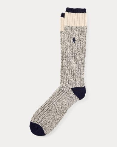 Rib-Knit Wool-Blend Boot Socks