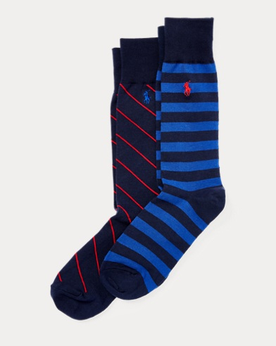 Striped Trouser Sock 2-Pack