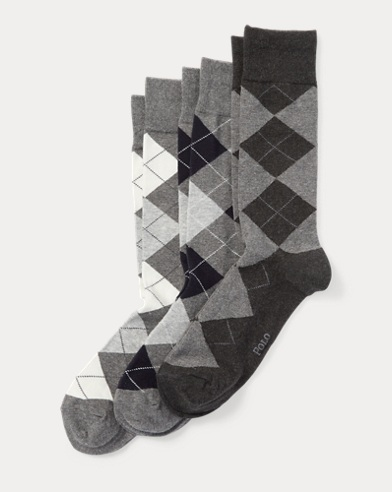Argyle Trouser Sock 3-Pack