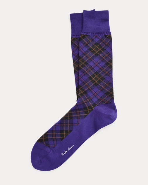 Plaid Trouser Sock by Ralph Lauren