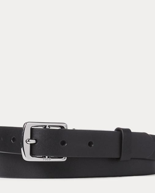 Equestrian Calfskin Belt by Ralph Lauren