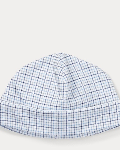 Plaid Cotton Interlock Hat