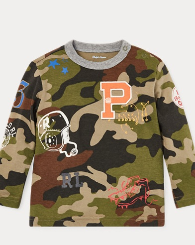 Camo Cotton Jersey T-Shirt