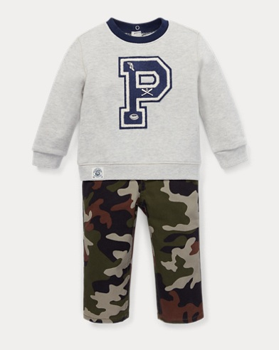 Sweatshirt & Camo Jean Set