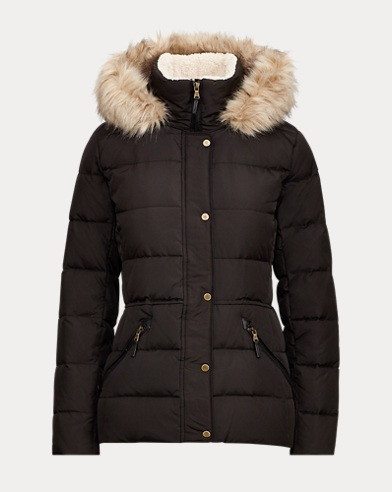 Faux-Fur-Trim Down Coat