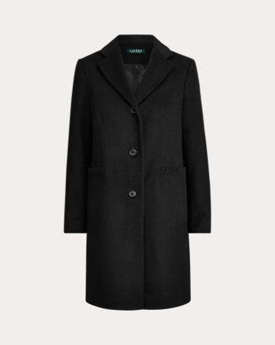Wool-Blend 3-Button Coat