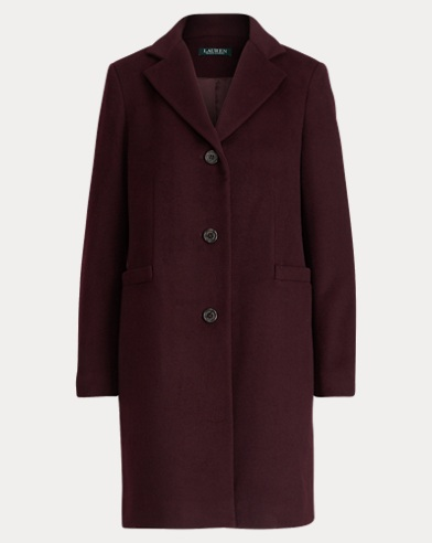 Wool-Blend 3-Button Coat