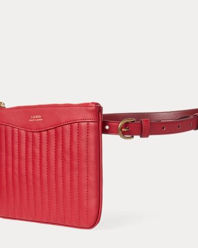 Faux-Leather Belt Bag