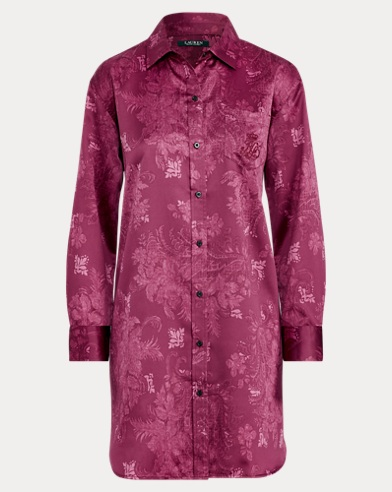 Floral Satin Night Shirt