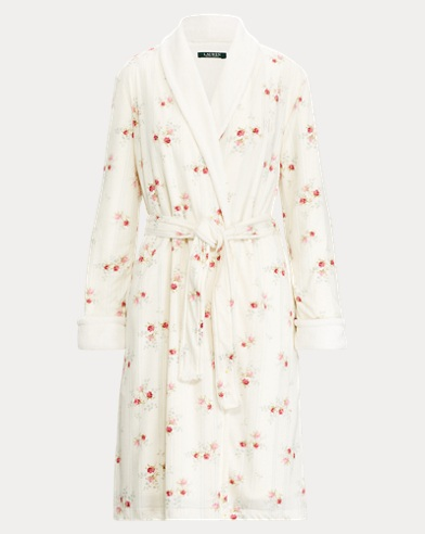 Floral Jersey Robe