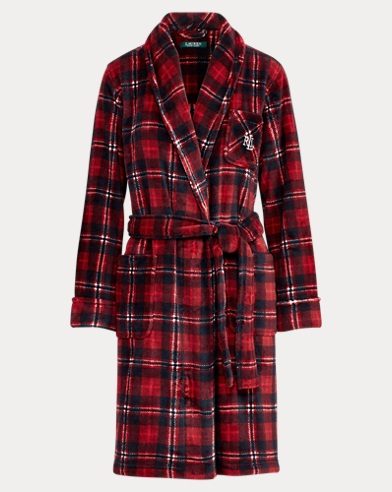Plaid Fleece Robe
