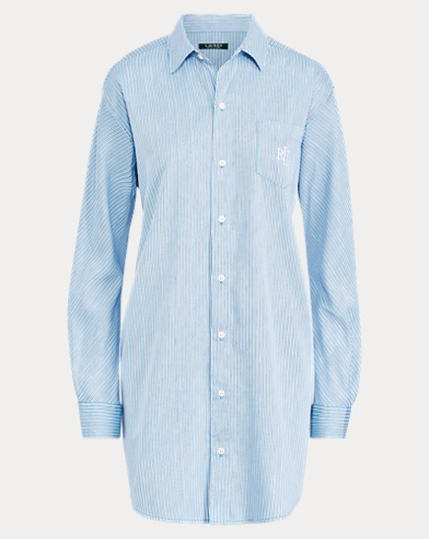 Stripe Sateen Sleep Shirt