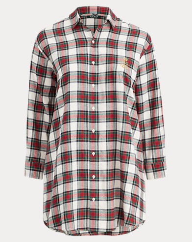 Plaid Cotton Sleep Shirt