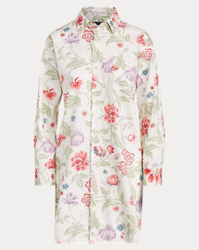Floral Cotton Sleep Shirt