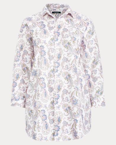 Paisley Twill Sleep Shirt