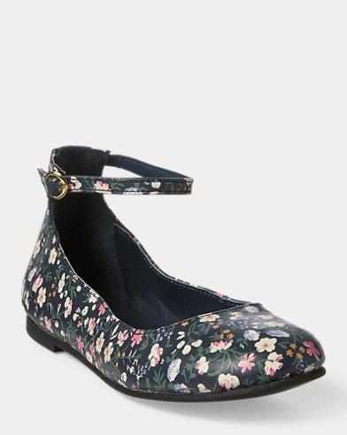 Alyssa II Floral Leather Flat