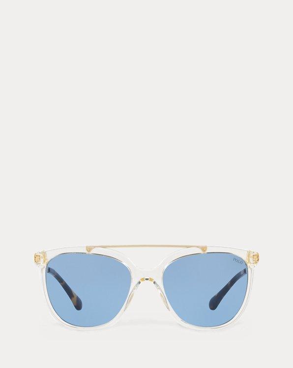 Eckige Metallsonnenbrille